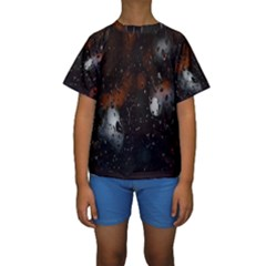 Lights And Drops While On The Road Kids  Short Sleeve Swimwear