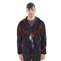 Lights And Drops While On The Road Hooded Wind Breaker (men)