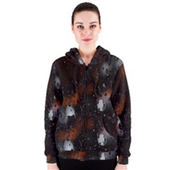 Lights And Drops While On The Road Women s Zipper Hoodie