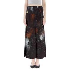 Lights And Drops While On The Road Maxi Skirts