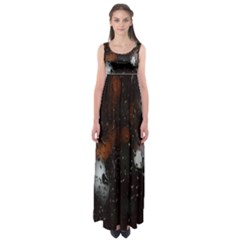 Lights And Drops While On The Road Empire Waist Maxi Dress