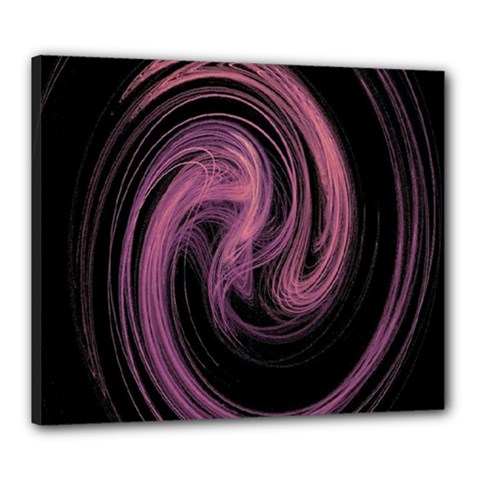 A Pink Purple Swirl Fractal And Flame Style Canvas 24  X 20