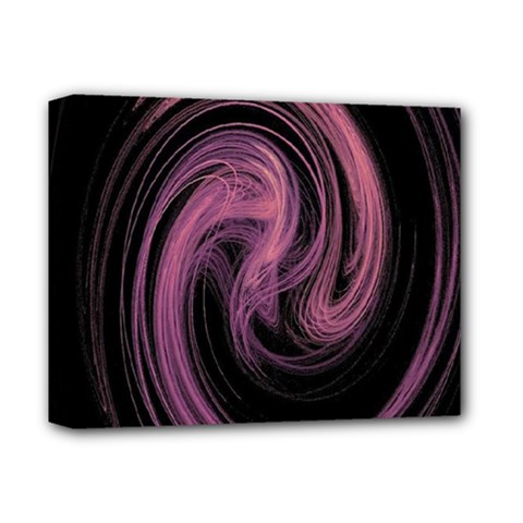 A Pink Purple Swirl Fractal And Flame Style Deluxe Canvas 14  x 11