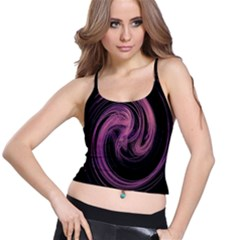 A Pink Purple Swirl Fractal And Flame Style Spaghetti Strap Bra Top
