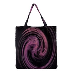 A Pink Purple Swirl Fractal And Flame Style Grocery Tote Bag