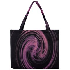 A Pink Purple Swirl Fractal And Flame Style Mini Tote Bag