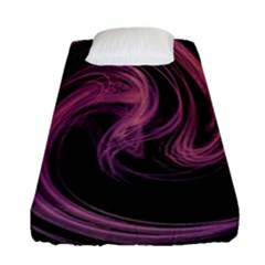 A Pink Purple Swirl Fractal And Flame Style Fitted Sheet (single Size)