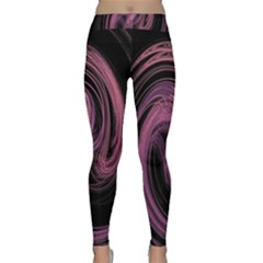 A Pink Purple Swirl Fractal And Flame Style Classic Yoga Leggings