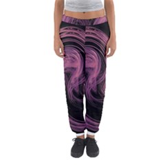 A Pink Purple Swirl Fractal And Flame Style Women s Jogger Sweatpants