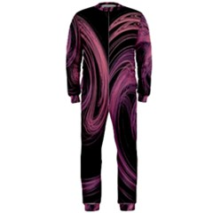 A Pink Purple Swirl Fractal And Flame Style Onepiece Jumpsuit (men)