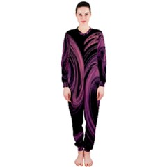 A Pink Purple Swirl Fractal And Flame Style Onepiece Jumpsuit (ladies)