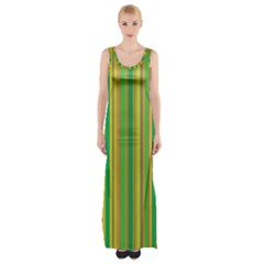 Lines Maxi Thigh Split Dress