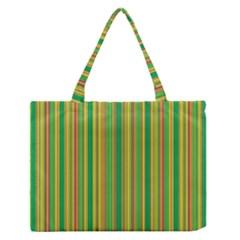 Lines Medium Zipper Tote Bag