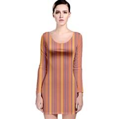 Lines Long Sleeve Velvet Bodycon Dress