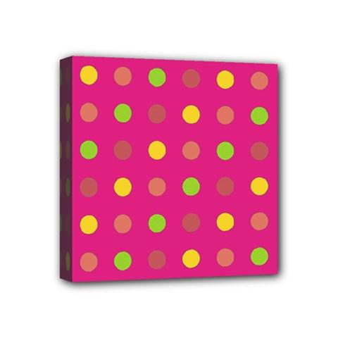 Polka dots  Mini Canvas 4  x 4