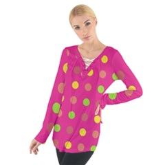 Polka dots  Women s Tie Up Tee