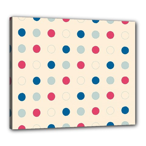 Polka dots  Canvas 24  x 20