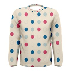 Polka Dots  Men s Long Sleeve Tee