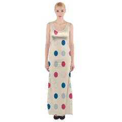 Polka dots  Maxi Thigh Split Dress