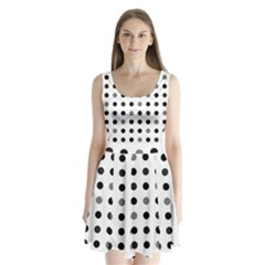 Polka dots  Split Back Mini Dress
