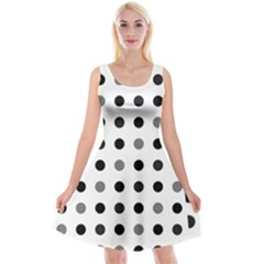 Polka dots  Reversible Velvet Sleeveless Dress