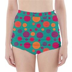 Polka dots High-Waisted Bikini Bottoms
