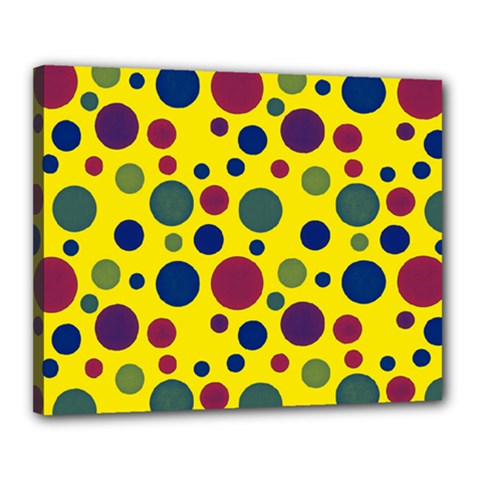 Polka dots Canvas 20  x 16