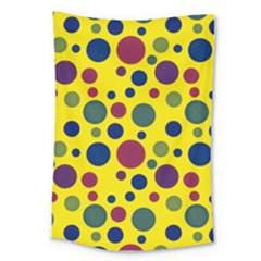Polka Dots Large Tapestry