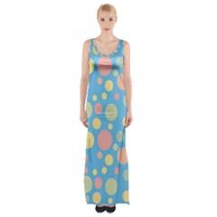 Polka dots Maxi Thigh Split Dress