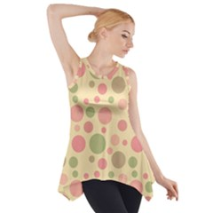 Polka dots Side Drop Tank Tunic