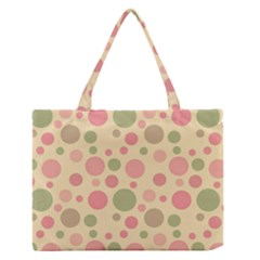 Polka dots Medium Zipper Tote Bag