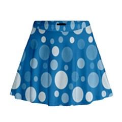 Polka dots Mini Flare Skirt