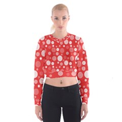Polka dots Women s Cropped Sweatshirt