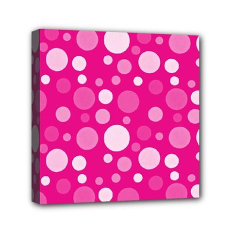 Polka dots Mini Canvas 6  x 6