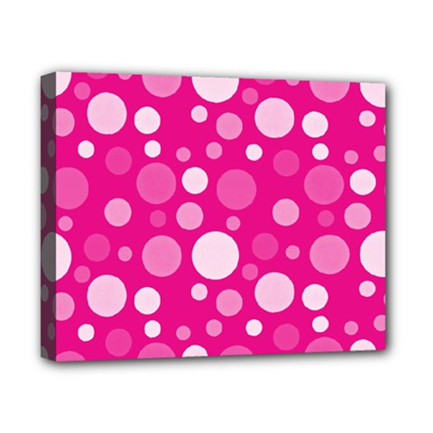 Polka dots Canvas 10  x 8