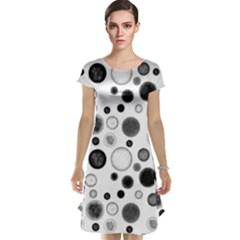 Polka dots Cap Sleeve Nightdress