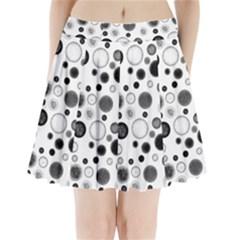 Polka dots Pleated Mini Skirt