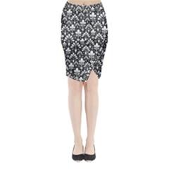Pattern Midi Wrap Pencil Skirt