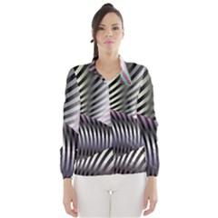 Fractal Zebra Pattern Wind Breaker (Women)