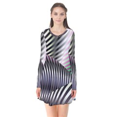 Fractal Zebra Pattern Flare Dress