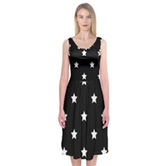 Stars pattern Midi Sleeveless Dress