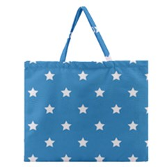 Stars pattern Zipper Large Tote Bag