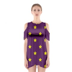 Stars pattern Shoulder Cutout One Piece