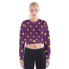 Stars pattern Women s Cropped Sweatshirt