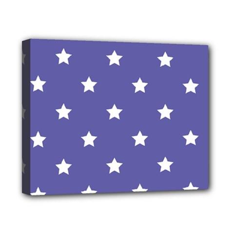 Stars pattern Canvas 10  x 8