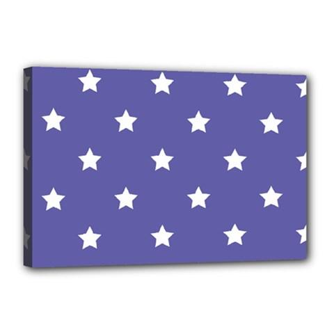 Stars pattern Canvas 18  x 12