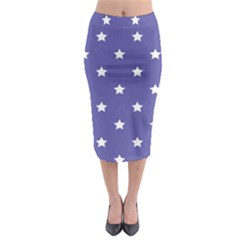 Stars Pattern Midi Pencil Skirt