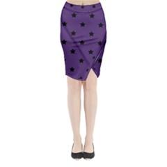 Stars pattern Midi Wrap Pencil Skirt