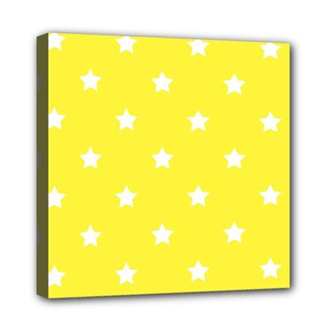 Stars pattern Mini Canvas 8  x 8