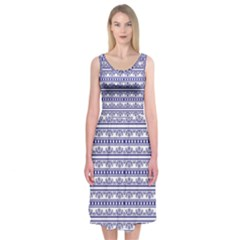 Pattern Midi Sleeveless Dress